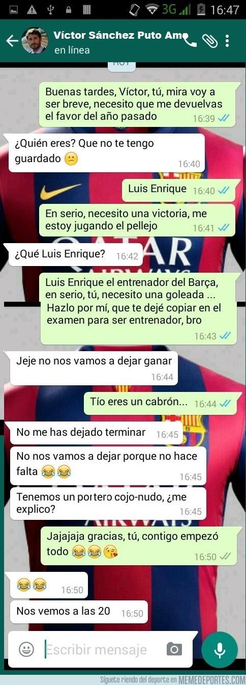 843516 - Se filtra la conversación que tuvieron Lucho y Víctor antes del partido de ayer.