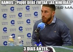 Enlace a WTF Ramos dando consejos a Piqué