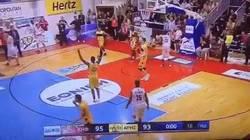 Enlace a GIF: Algo difícil de ver en el baloncesto: Un