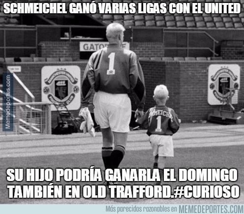 846296 - Schmeichel ganó varias ligas en el United. Su hijo podría ganarla el domingo también en Old Trafford