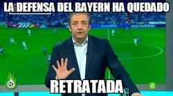 Enlace a Defensa del Bayern tras el gol de Saúl