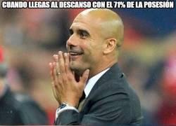 Enlace a Guardiola es feliz en su mundo de la posesión...