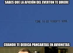 Enlace a Los fans del Everton lo tienen claro...otros no tanto...