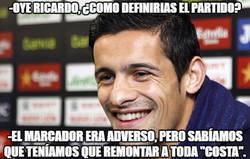 Enlace a Ricardo Costa definiendo el partido de hoy