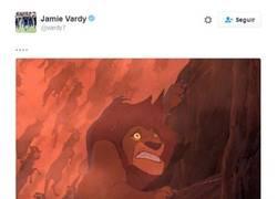 Enlace a ¡EL ZASCA DEL AÑO! Jamie Vardy la rompió en Twitter, la indirecta a Harry Kane