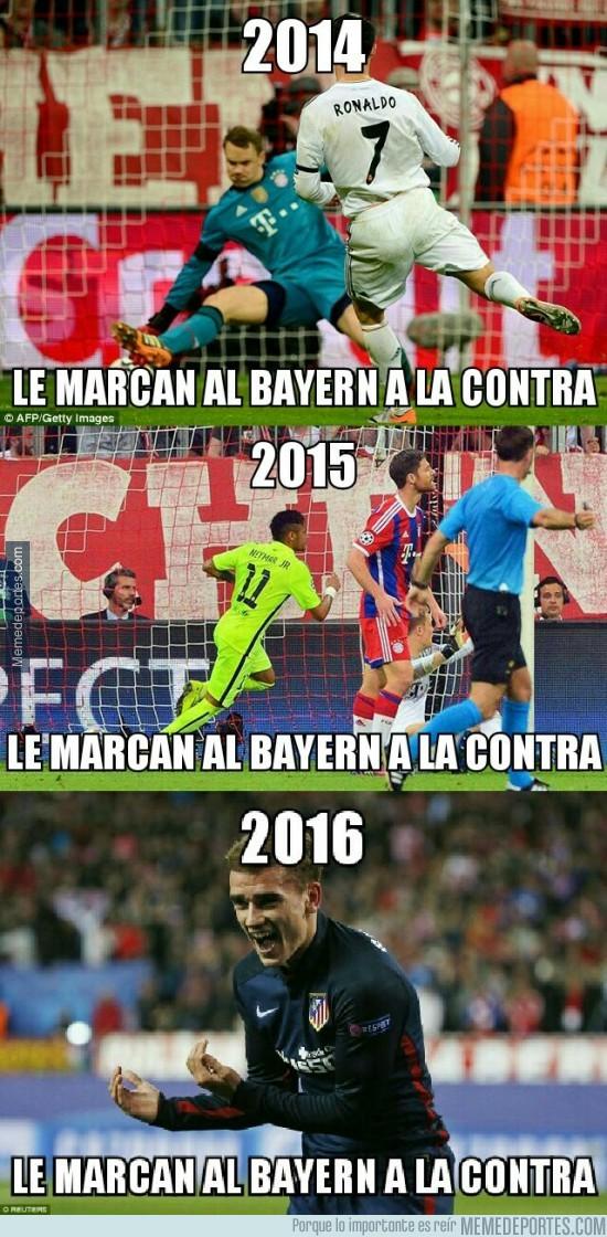 850313 - El Bayern deja mucho que desear defensivamente