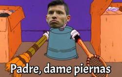 Enlace a Agüero en el Bernabéu