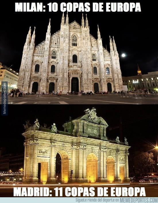 851269 - A lo tonto, la ciudad del oso y el madroño supera a la capital lombardina en Copas de Europa