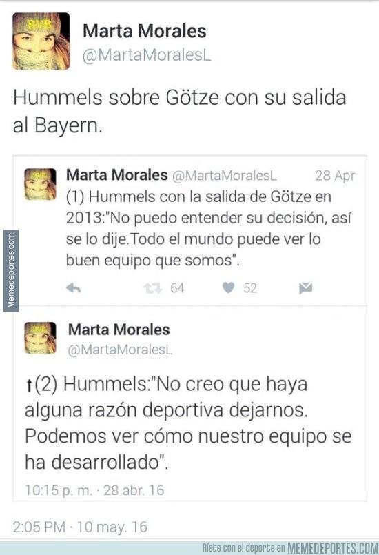 854668 - Declaraciones de Hummels cuando se fue Götze. Ha quedado RETRATADO