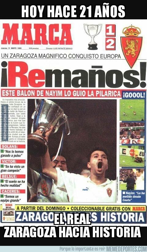 854838 - Aquella noche del 10 de mayo de 1995 en el que el Real Zaragoza logró la Recopa