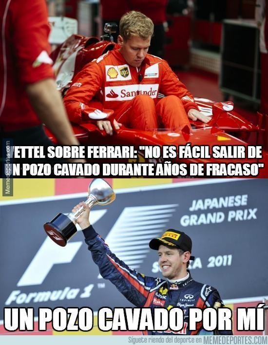855071 - Vettel quejándose de algo que él mismo propició