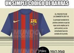 Enlace a Vaya tela la nueva camiseta del Barça