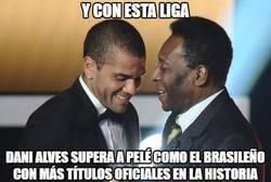 Enlace a Alves ya supera a Pelé