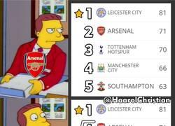 Enlace a Arsenal en una posición desconocida para ellos