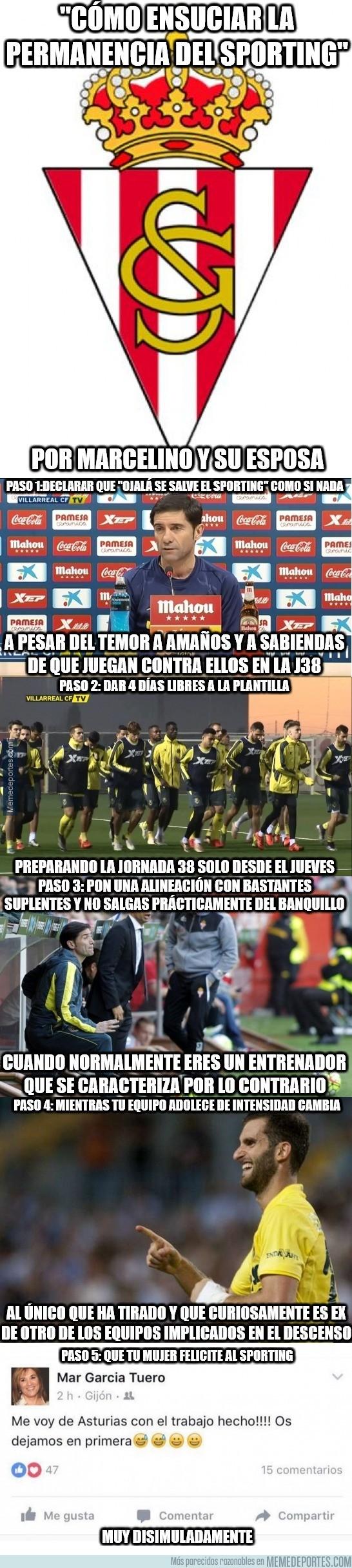 857613 - Marcelino ensuciando la permanencia del Sporting con sus acciones...