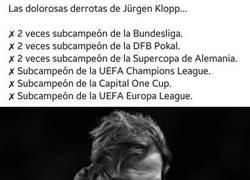 Enlace a Pobre Jürgen, todas las veces que ha sido subcampeón en algo
