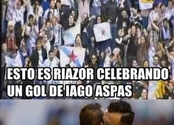 Enlace a WTF Riazor celebra un gol de Aspas