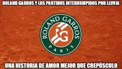 Enlace a Roland Garros y los partidos interrumpidos por lluvia