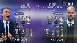 Enlace a Los dos primeros años de Pep Guardiola y Luis Enrique, palmarés calcado