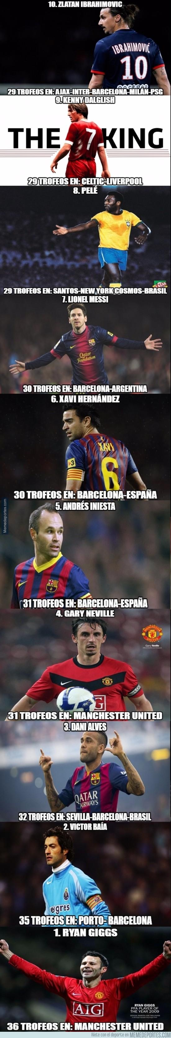 861184 - Estos son los jugadores con más títulos en la historia del fútbol