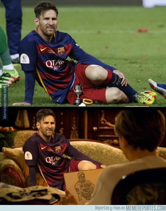 861281 - Messi se hace un retrato tras ganar la Copa