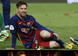 Enlace a Messi se hace un retrato tras ganar la Copa
