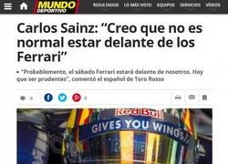 Enlace a Carlos Sainz, Ferrari no es lo que era