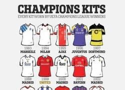 Enlace a Las camisetas de todos los ganadores de la Champions