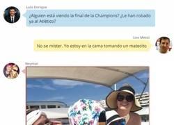 Enlace a Así fue la conversación en Whatsapp de los jugadores del Barça durante la final de la Champions