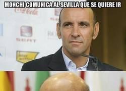 Enlace a Monchi comunica al Sevilla que se quiere ir