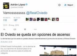 Enlace a Adrián López y sus tuits animando antes de los partidos