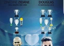 Enlace a Comparación de títulos entre Douglas y Zidane