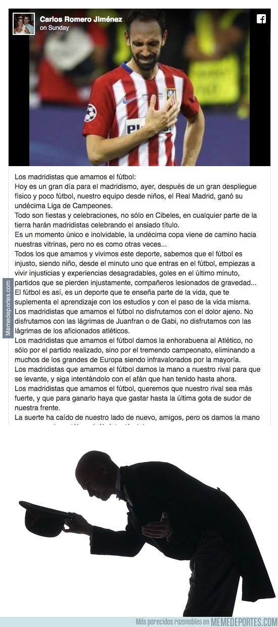 865974 - La emotiva carta de un madridista a los atléticos que se ha hecho viral