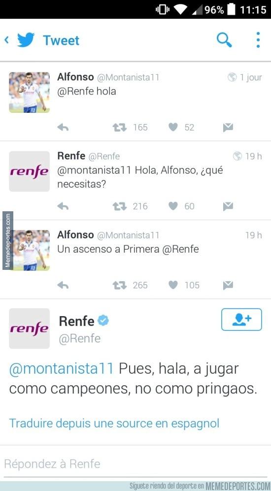 866128 - La vacilada de @Renfe a los zaragozanos en twitter LEVANTA AMPOLLAS