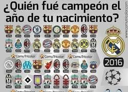Enlace a ¿Quien fue el campeón del trofeo europeo el año que naciste?