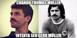 Enlace a Cuando Thomas Müller intenta ser Gerd Müller