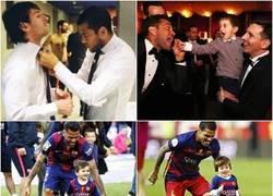Enlace a Thiago y Lionel Messi echarán mucho de menos a Dani Alves