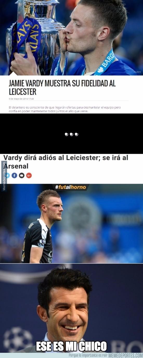 867460 - Vardy jurando lealtad al Leicester es lo más falso que vas a ver esta semana
