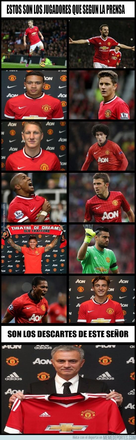 868474 - Ésta es la lista de descartes que tiene preparada Mourinho en el United
