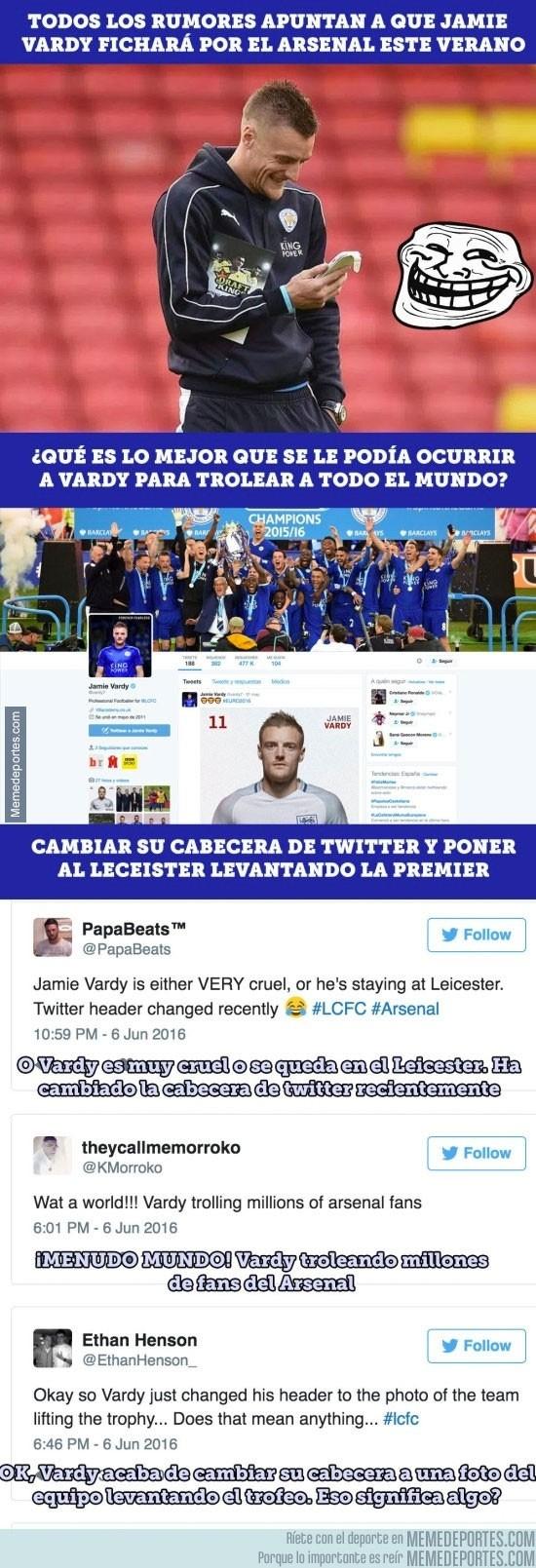 868608 - Vardy juega con los sentimientos de toda la Premier League en sus redes sociales