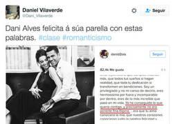 Enlace a La delicada felicitación de Dani Alves a su novia