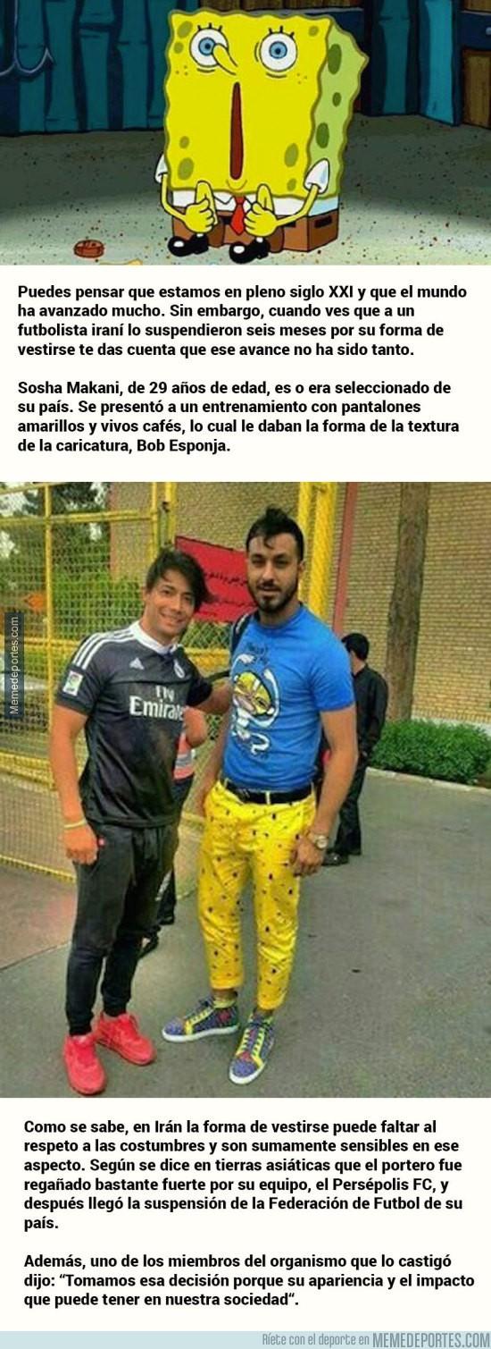 869754 - WTF?!? Suspenden a futbolista iraní por usar pantalones de Bob Esponja