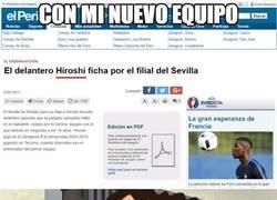 Enlace a Hiroshi ficha por el Sevilla