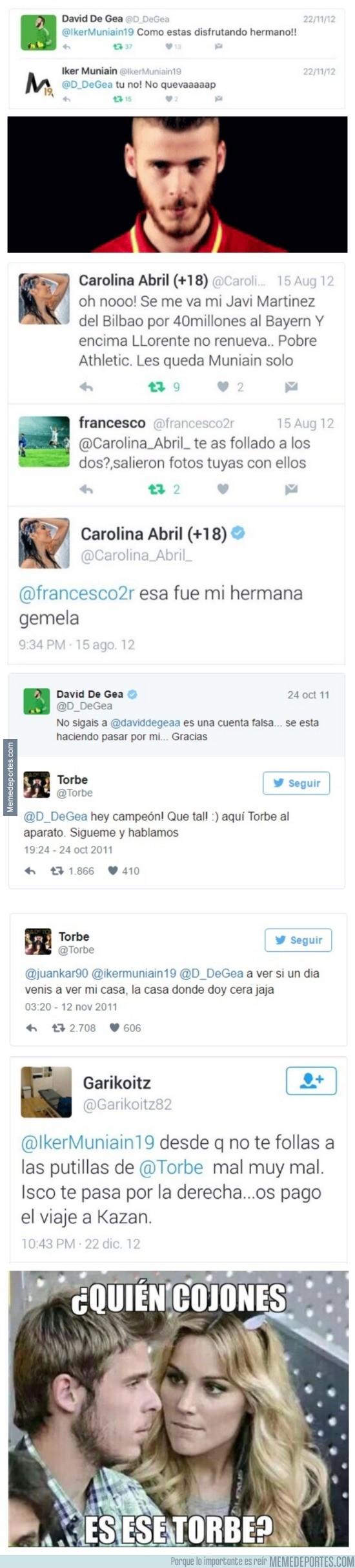 870408 - Toda la conversación en twitter de De Gea, Muniaín, Torbe y las implicadas