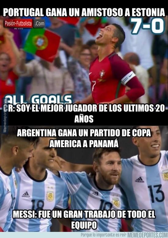 871048 - Diferencias MUY NOTABLES entre Messi y Cristiano