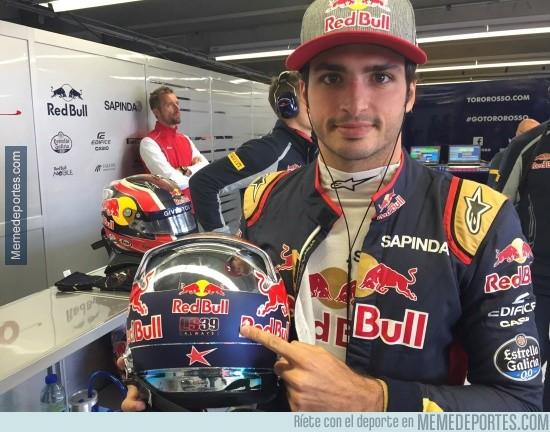 871102 - Sainz llevará a Salom en el casco en el próximo GP #Respect