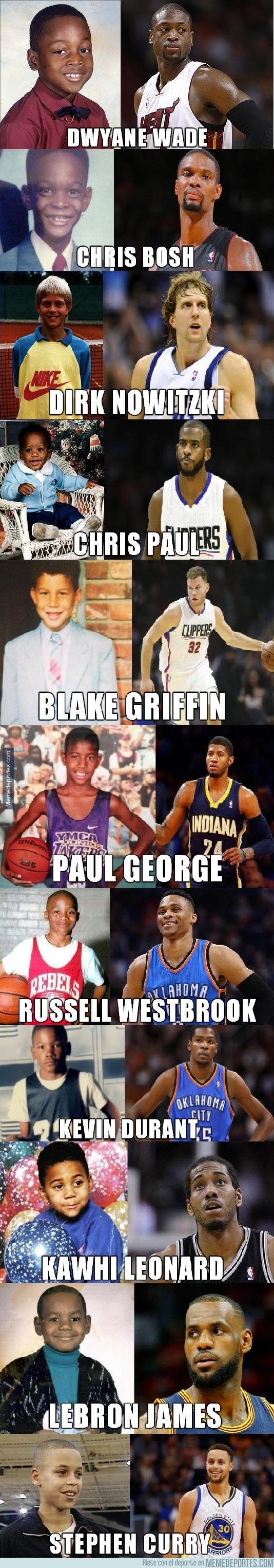 872043 - Algunas de las estrellas de la NBA... ¡Cuando eran niños!