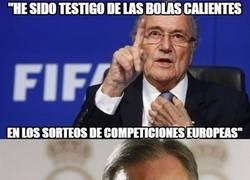 Enlace a Blatter suelta un secreto a voces