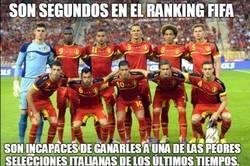 Enlace a Bélgica es segunda en el Ranking FIFA pero...