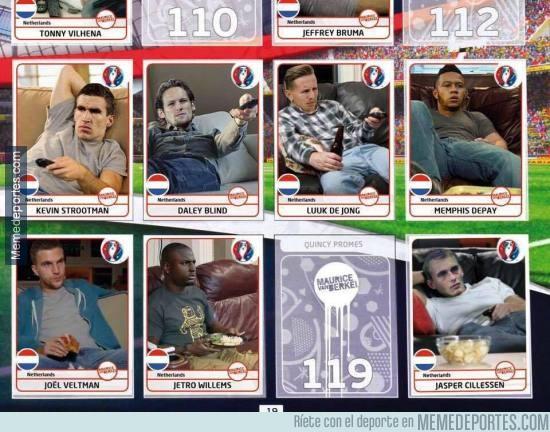 874422 - Mientras tanto, ya han salido los cromos de la selección holandesa para la Eurocopa